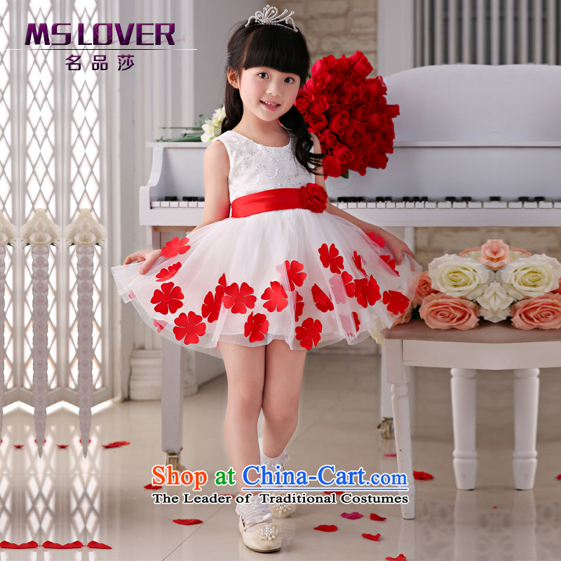 The new 2015 mslover flower girl children dance performances to dress dress wedding dress?TZ150505?ivory?12 Code