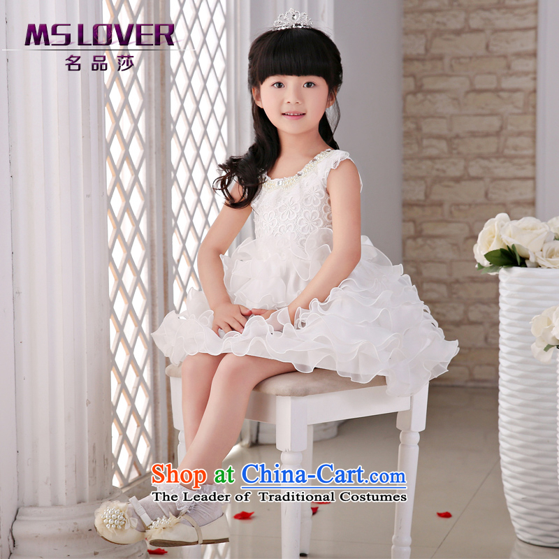 The new 2015 mslover flower girl children dance performances to dress dress wedding dress?TZ150506?ivory?12 Code