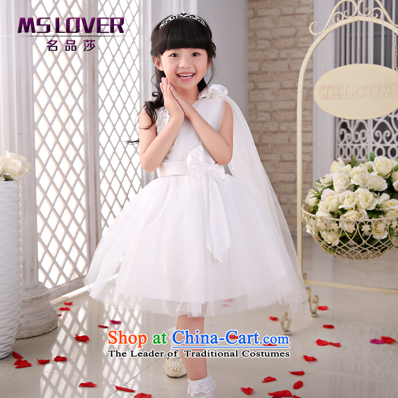 The new 2015 mslover flower girl children dance performances to dress dress wedding dress?TZ150507?ivory?10