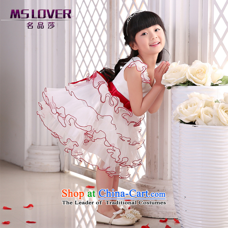 The new 2015 mslover flower girl children dance performances to dress dress wedding dress?TZ150508?ivory?2 code