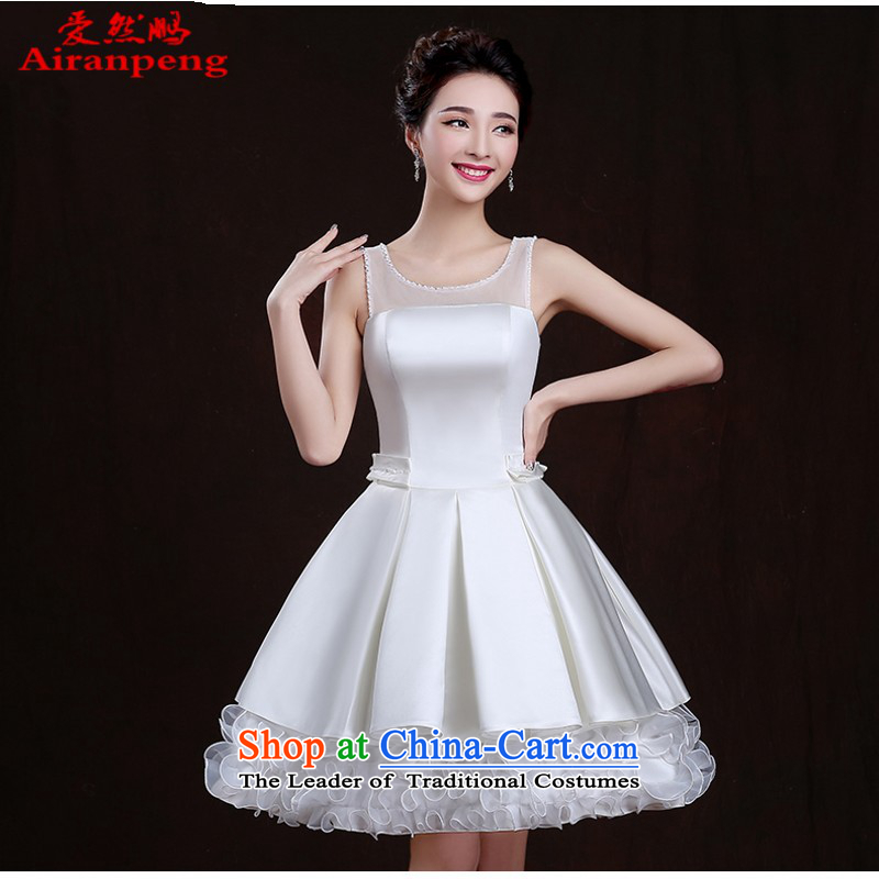 Love So Peng evening dresses 2015 new summer short of banquet bridesmaid sister graduated from mission service small white performances under the auspices of dress to size a made-to-customer does not support replacement