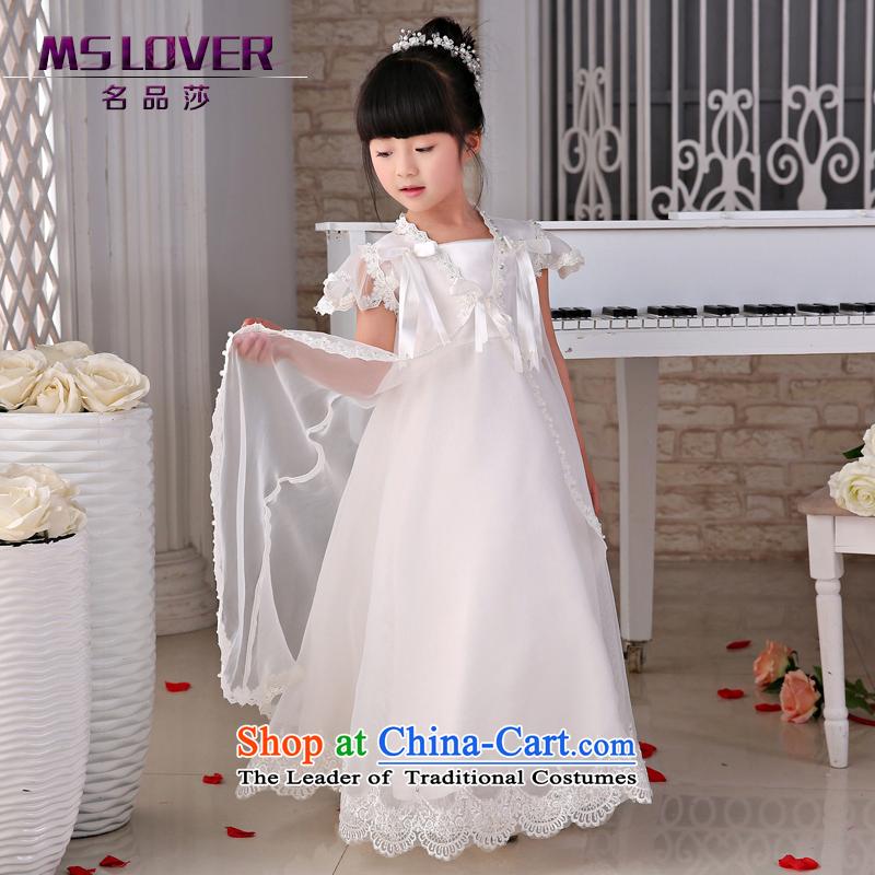 The new 2015 mslover flower girl children dance performances to dress dress wedding dress?TZ1505023?ivory?10