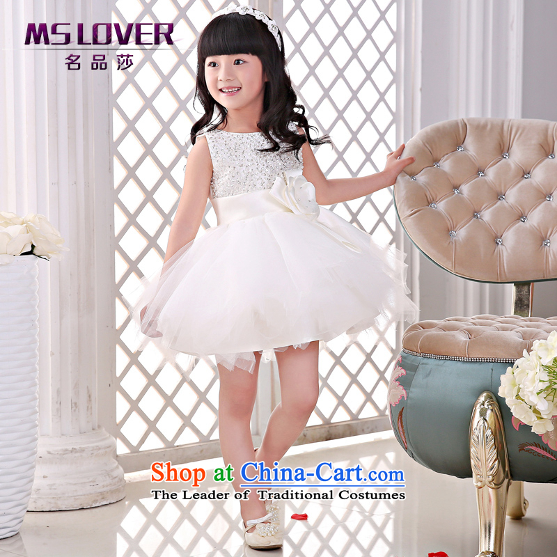The new 2015 mslover flower girl children dance performances to dress dress wedding dress?TZ1505043?ivory?10