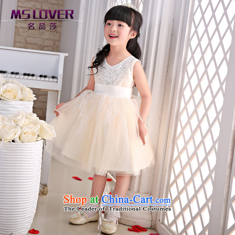 The new 2015 mslover flower girl children dance performances to dress dress wedding dress?TZ1505045?ivory?14 yards