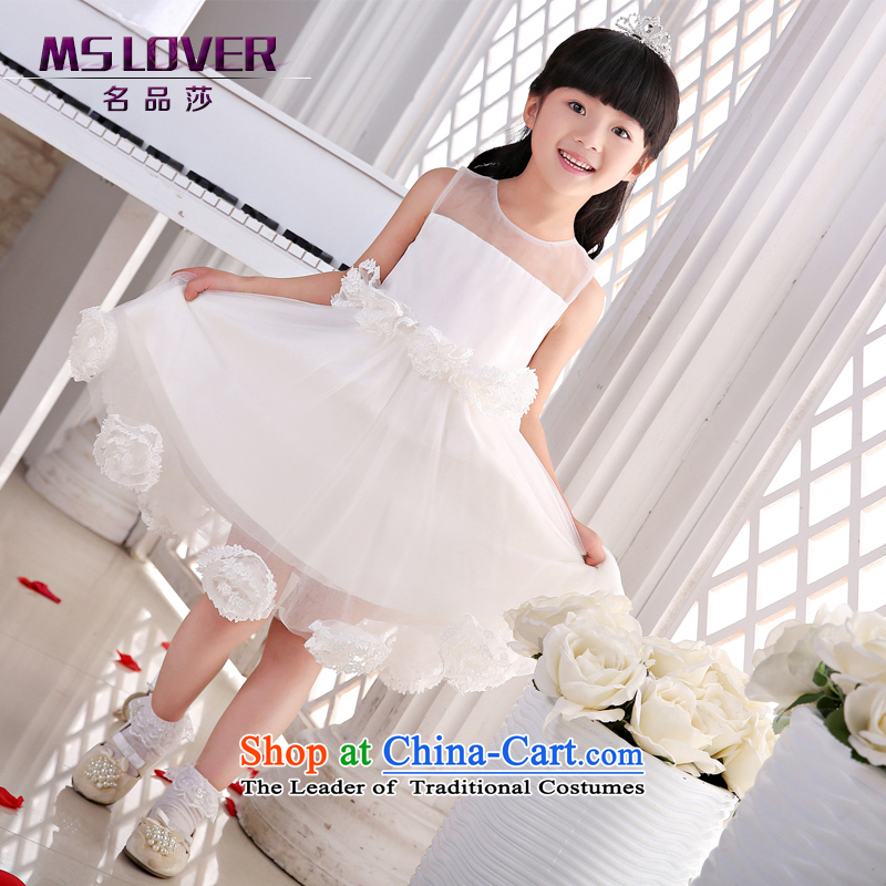 The new 2015 mslover flower girl children dance performances to dress dress wedding dress?TZ1505048?ivory?10