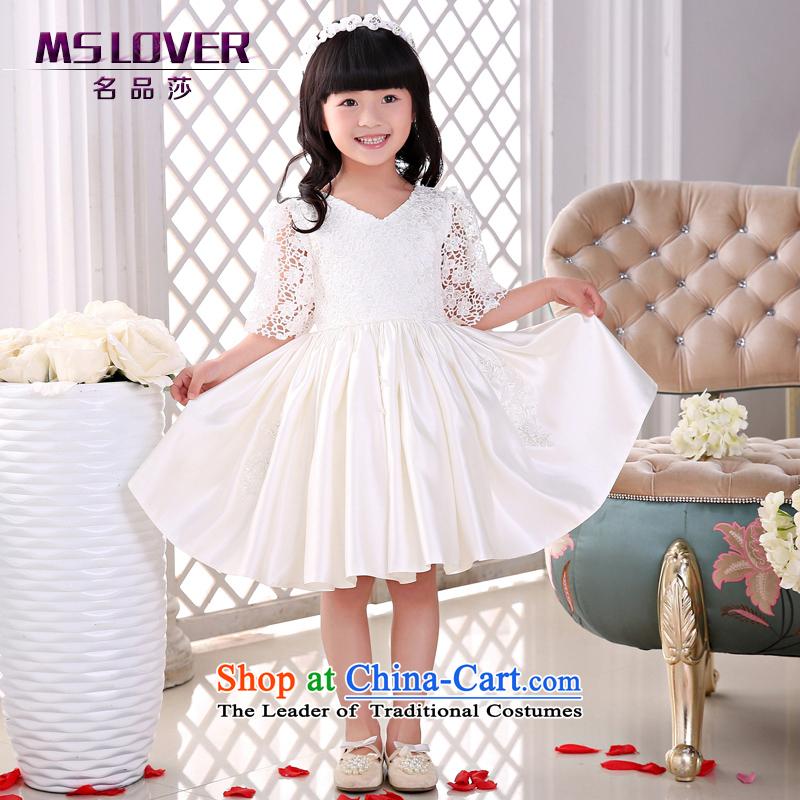 The new 2015 mslover flower girl children dance performances to dress dress wedding dress?TZ1505049?ivory?10