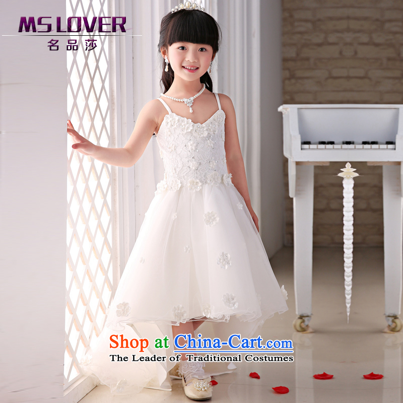 The new 2015 mslover flower girl children dance performances to dress dress wedding dress?TZ1505057?ivory?10