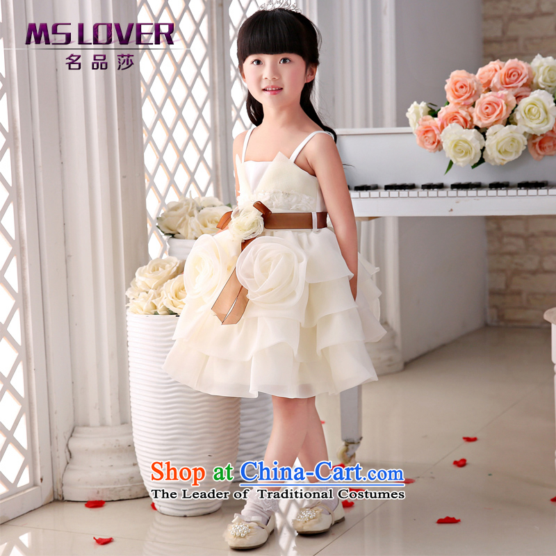 The new 2015 mslover flower girl children dance performances to dress dress wedding dress?TZ1505062?champagne color?14 yards