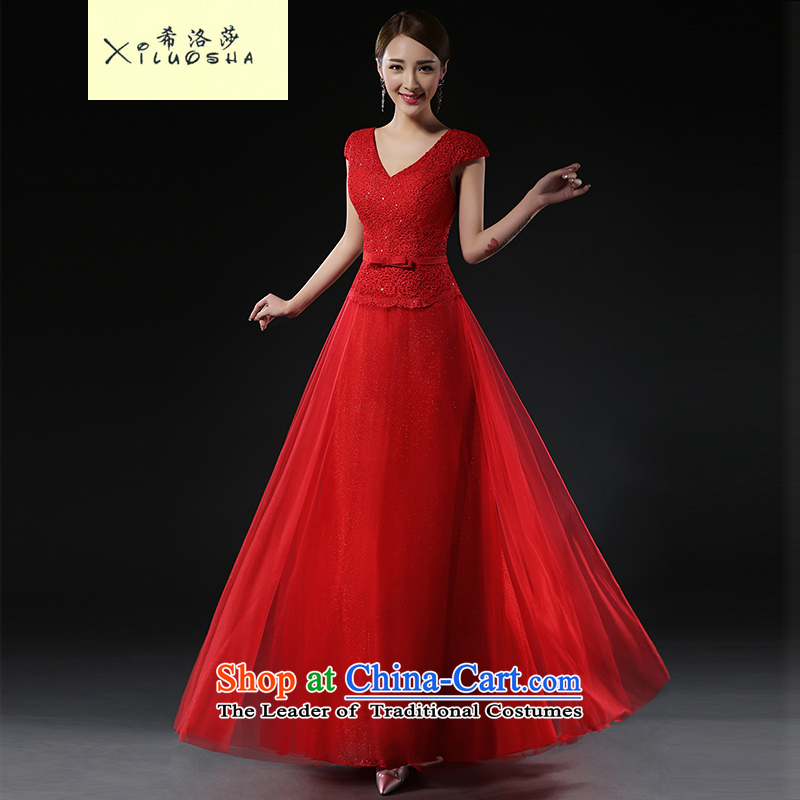 Hillo Lisa _XILUOSHA_ Bride bows services stylish wedding dress female wine red banquet evening dresses wedding dresses new 2015 RED?M