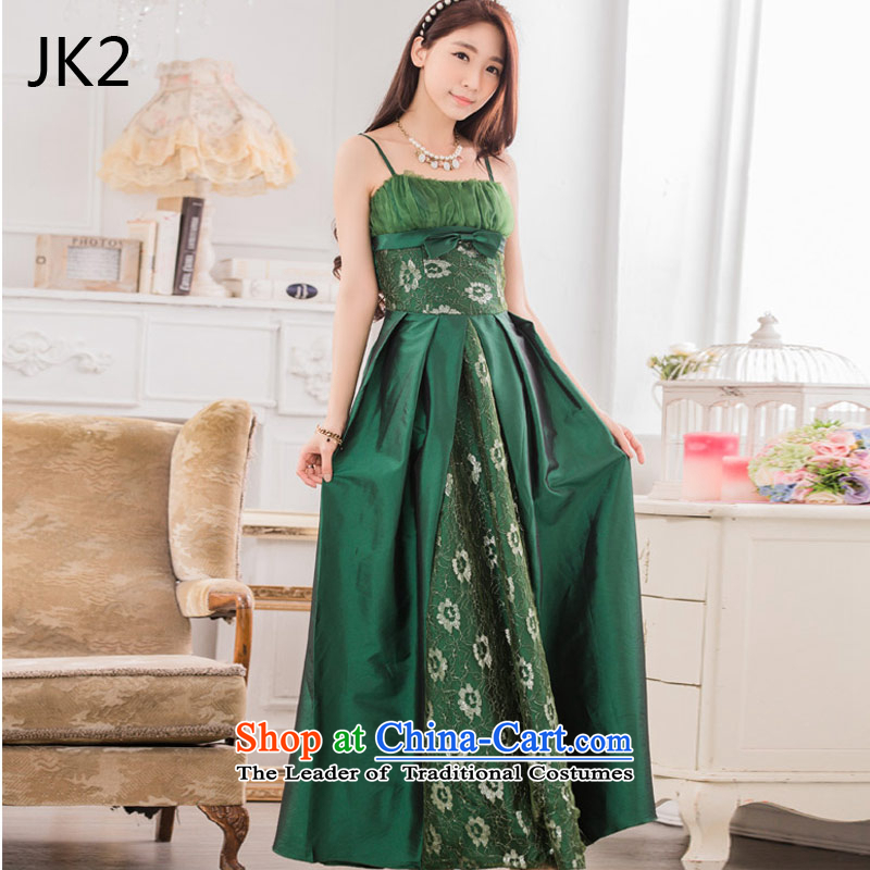 ? ?Stylish evening performances auspices JK2 large long evening dresses larger dresses 9,734 Green?XL