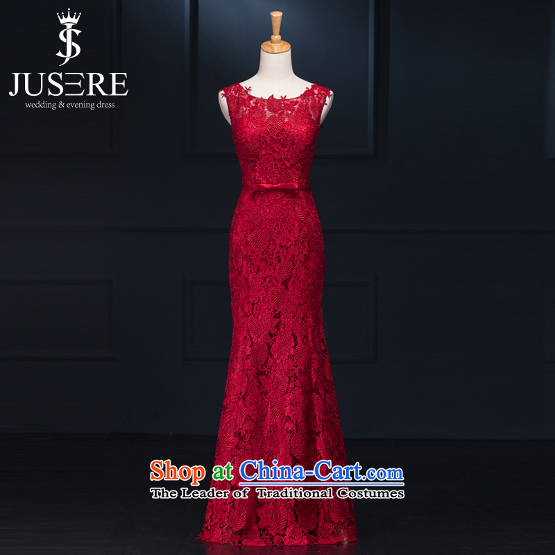 There is a red-yeon wedding dress festive Chinese red aristocratic bows to dress will serve under the auspices of lace shoulders to align the red?6 Code