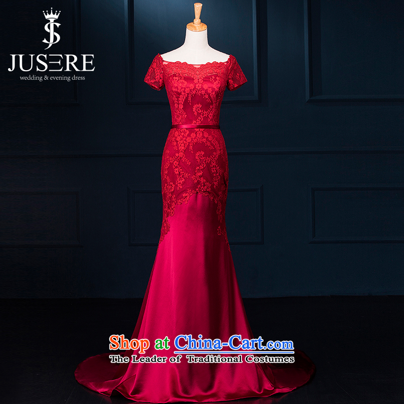 There is set zi wei wedding dresses chinese red aristocratic bows to dress will serve under the auspices of lace stamp small trailing Red 8
