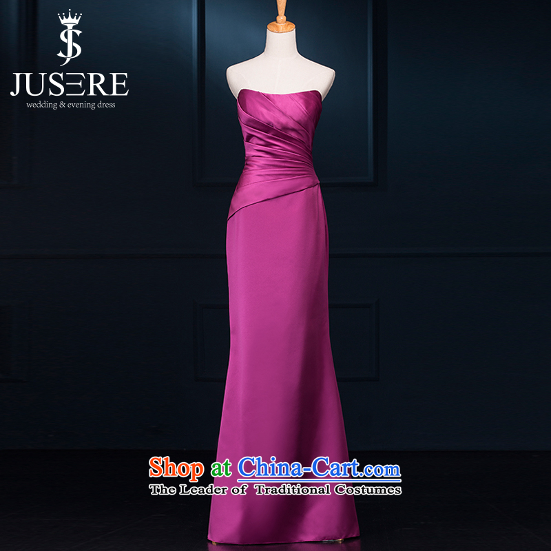 There is a plain language wedding dresses Plum Purple aristocratic bows services under the auspices of evening dress will erase Sau San?2 code purple chest