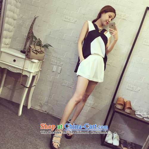 2015 new minimalist collision black clothes shorts Kit?5108?White?M