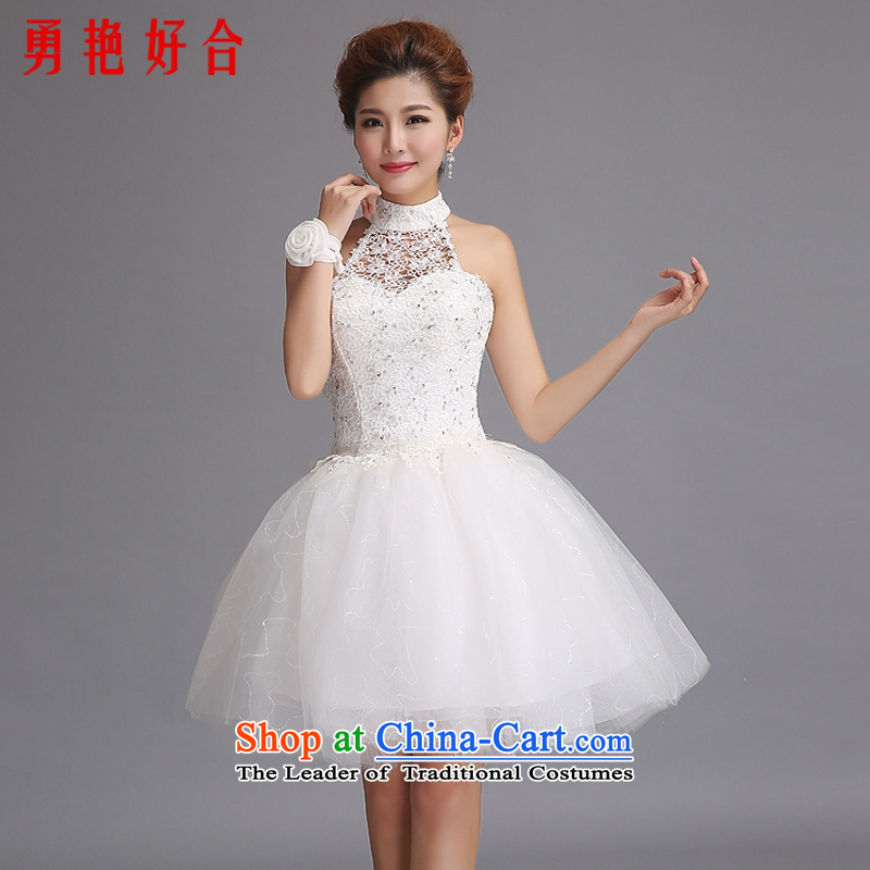 Yong-yeon and new short skirt�2015 Hang, sister also wedding dresses bridesmaid wedding dress to host dress White�XL