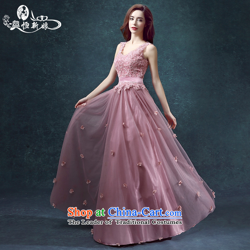 Noritsune bridal dresses 2015 new V-Neck shoulders flowers evening dresses marriage long service bows skirt the usual zongzi summer colors long?M