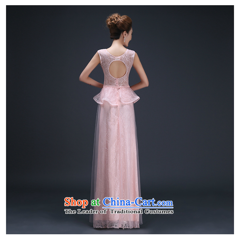 The first clause into about white wedding dress?2015 new marriages serving Korean dinner drink evening dresses bridesmaid sexy beauty long pink?M