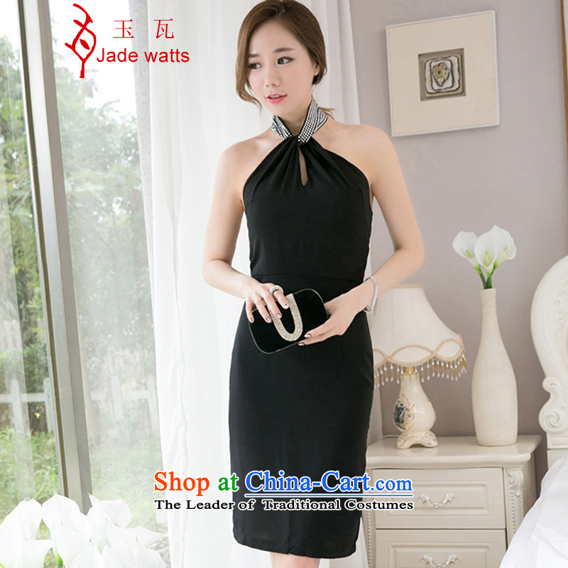Yuk-w 2015 Summer Korean citizenry women Sau San OL sexy hang also dresses package and dress long skirt 4,028 Black?S