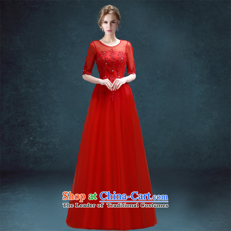 Each sleeve length, in Connie bride wedding dress original video thin straps out of married women serving drink red?XL