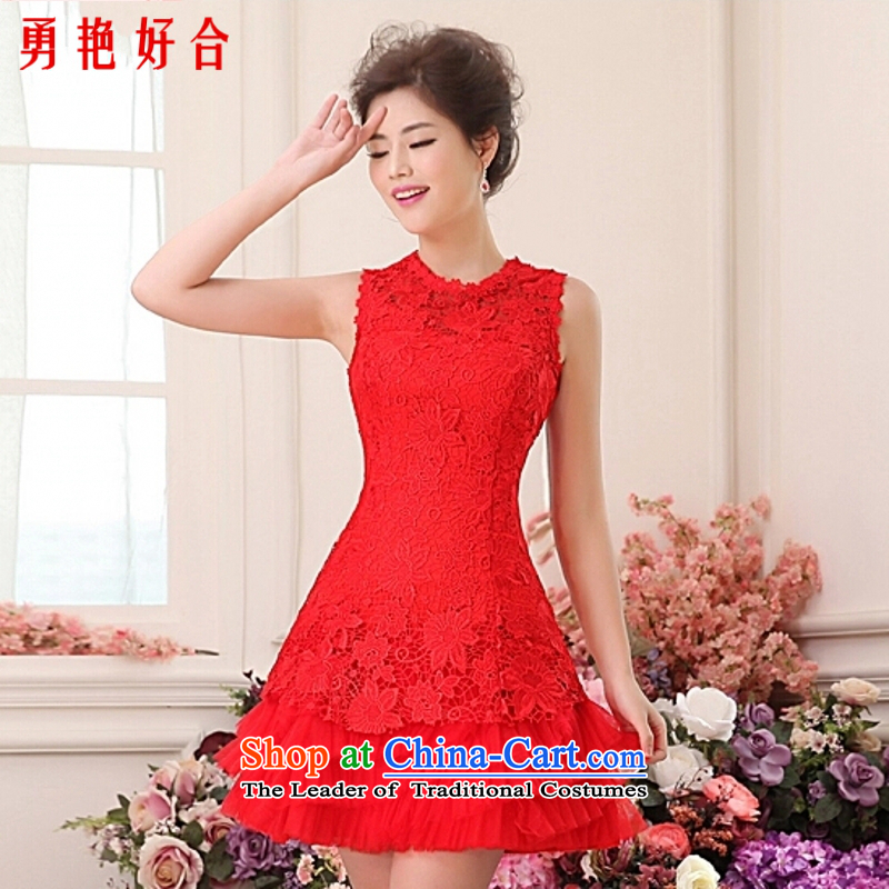 Yong-yeon and wedding dresses new 2015 Summer shorts bride bows bridesmaid services hosted services will make the red red color is not returning Size