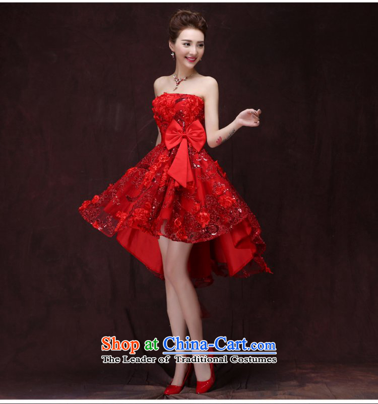 Beverly Ting 2015 winter new bride bows services evening dress short, lace large pregnant women marry the betrothal small dress skirt red S picture, prices, brand platters! The elections are supplied in the national character of distribution, so action, buy now enjoy more preferential! As soon as possible.