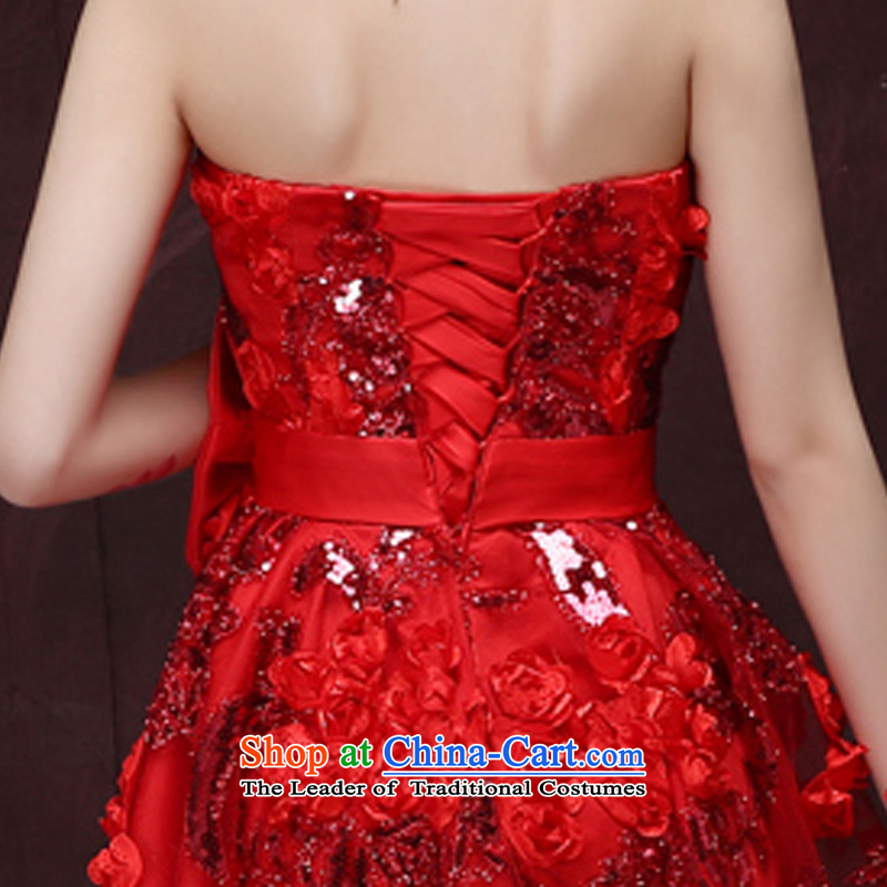 Beverly Ting 2015 winter new bride bows services evening dress short, lace large pregnant women marry the betrothal small dress skirt red S, Beverly (tingbeier ting) , , , shopping on the Internet