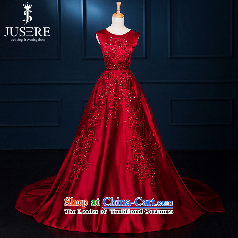 There is a wedding dresses,�elie saab new V-Neck wine red marriages bows dress Evening Dress�Code Red 2