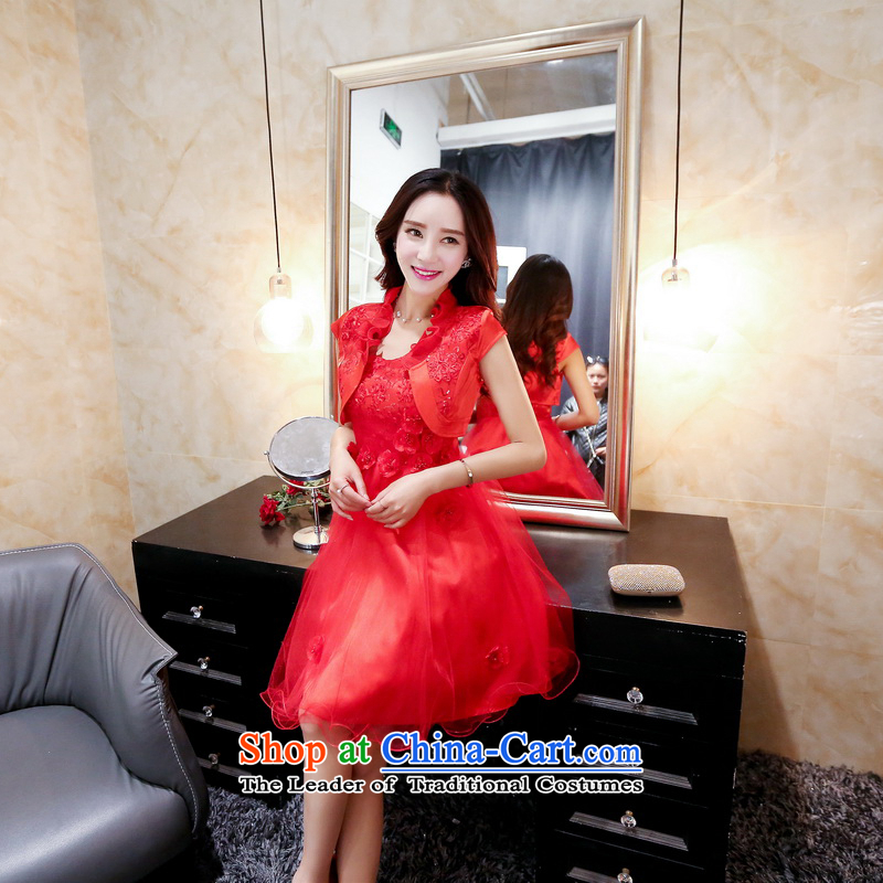Summer 2015 new summer new trendy straps on chip adorn foutune temperament gauze petticoats dress red?XXL
