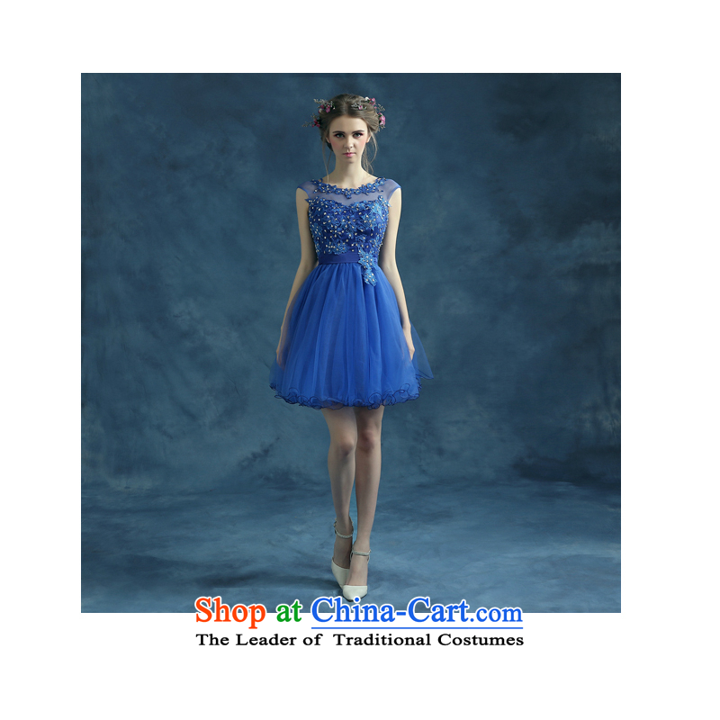 The first white into about the betrothal blue short) Bride services bridesmaid back small banquet dinner dress annual theatrical blue tailored contact customer service