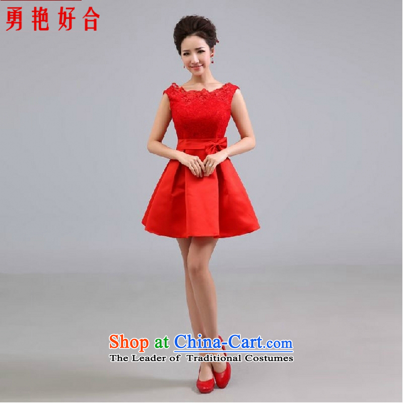 Yong-yeon and wedding dresses new short, bridal toasting champagne 2015 Service bridesmaid service gathering adult dress red red color of made-to-size is not a replacement for a