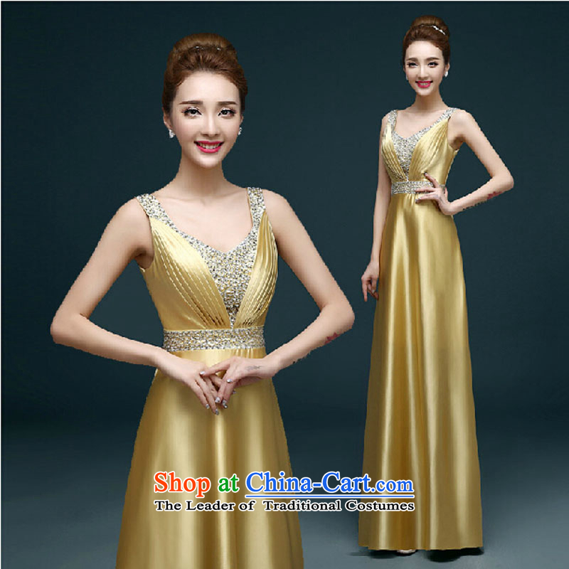 Evening dress Summer 2015 new marriages banquet bows to the moderator dress Golden Girls Sau San long other color photograph the message Please Oh?XL