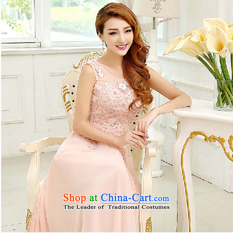 Marriages bows dress the new 2015 annual meeting of the Company serving bridesmaid evening dress long stylish lace shoulders red tailored please contact Customer Service
