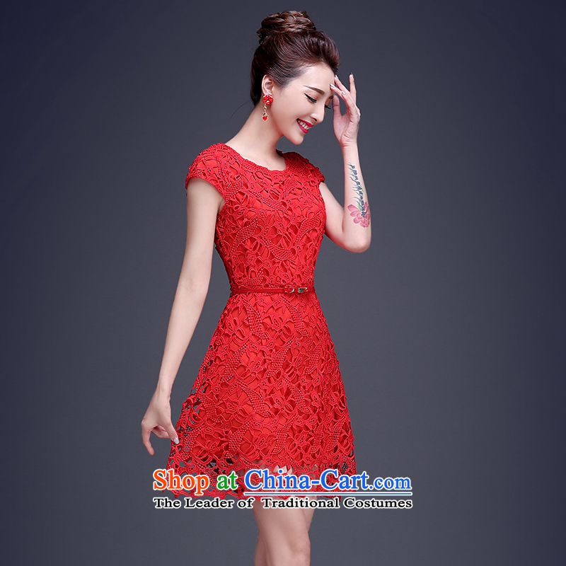 Beverly Ting bows Service Bridal Summer 2015 new red lace wedding dress short of the betrothal small dress dresses Sau San Red XL, Beverly (tingbeier ting) , , , shopping on the Internet