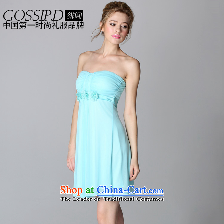 ?Flying about GOSSIP.D 2015 spring/summer short of evening dresses princess dresses skirt lifting strap Sau San elegance small dress 1683 light blue?M