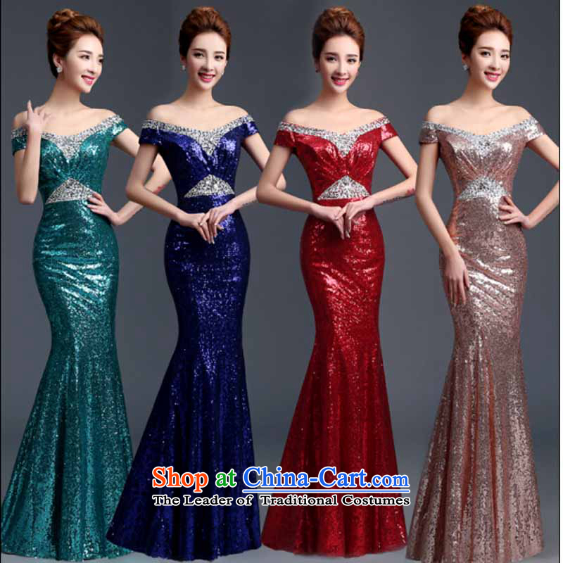 High-end light-dress custom long summer 2015 New banquet evening dress code under the auspices of the NPC, made other color photograph the message?L