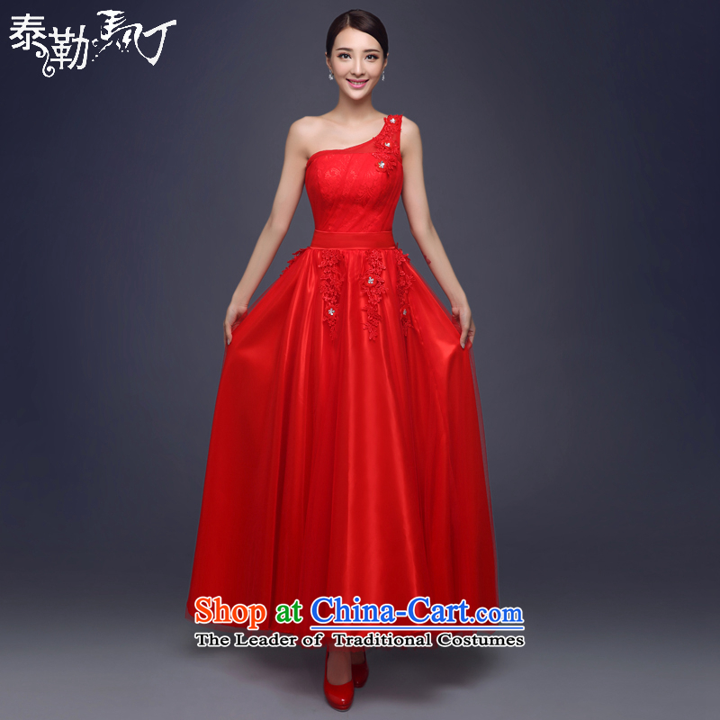 Martin Taylor long dresses 2015 Spring/Summer moderator bridesmaid to serve evening dress balls evening banquet larger dress long skirt red�XL