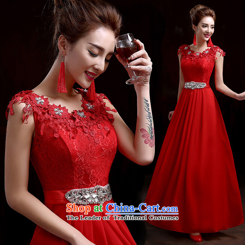 Wedding dresses bows services 2015 new marriages long thin chaired the video performance bridesmaid evening banquet red made no refund is not shifting