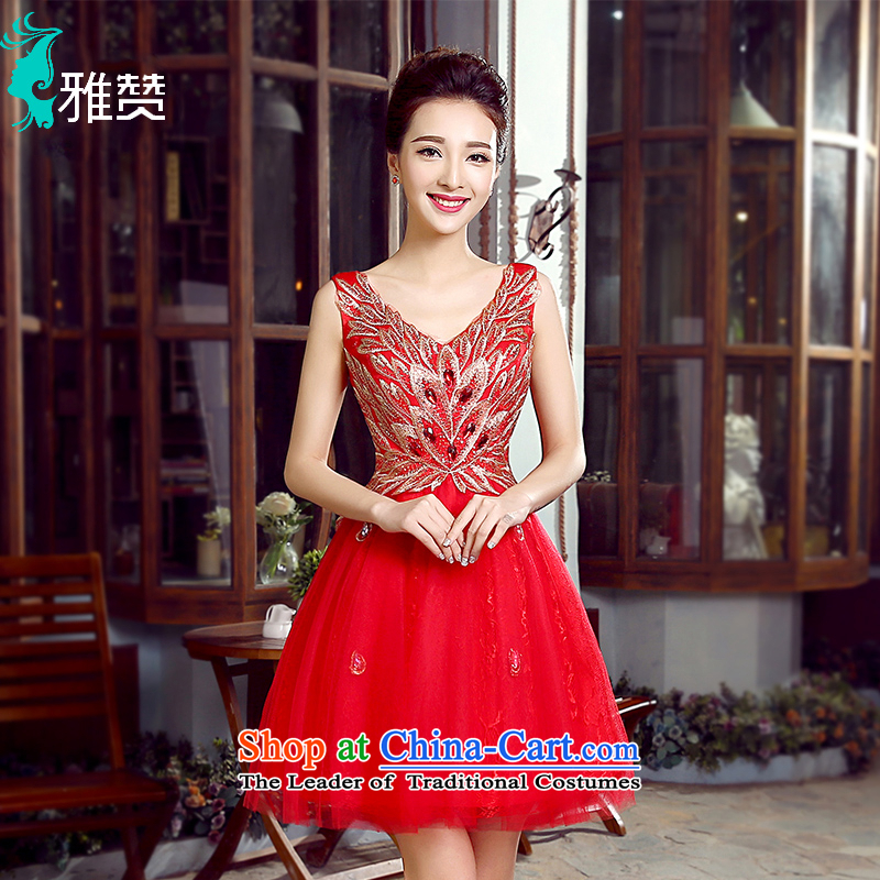 Jacob Chan bride bows services bon bon skirt small dress the summer and autumn of 2015 the new photo building theme clothing wedding binding with a bright chip stage performance services RED?M