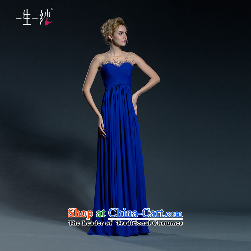 One of the persons chairing the blue dress female banquet evening dresses long 2015 new bows services fall larger?402401386??30 day blue 165/90A pre-sale