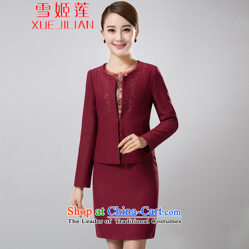 Michelle Gellar Lin's wedding package install MOM 2015 two kits of spring and summer load middle-aged jacket wedding dresses #6387 Women's Maroon�4XL