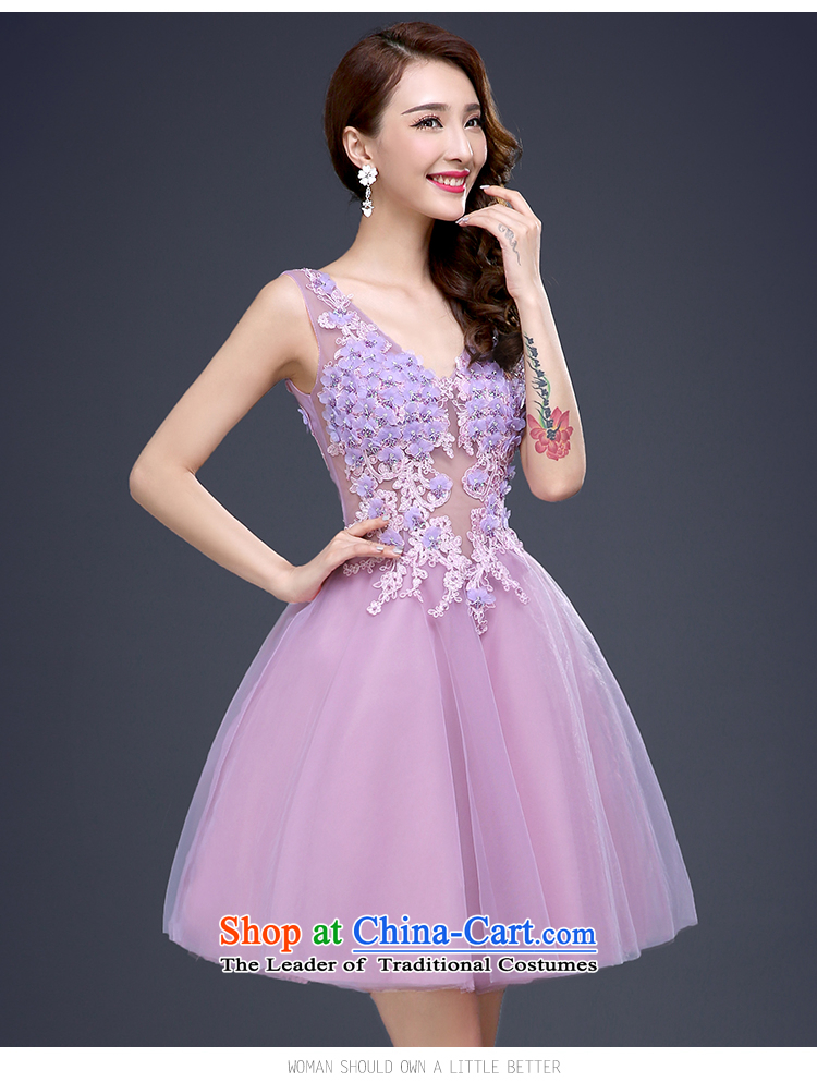 The new wedding dresses banquet small skirt bridesmaid to lace ...