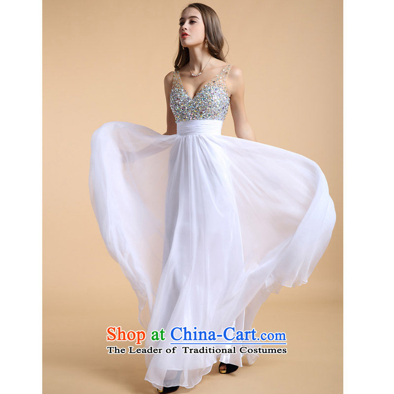 The new Top Loin of Sau San Evening Dress Short of deep V small sexy evening dress short skirt Korean short, Ms. evening dresses in spring and summer white long-made no refund is not shifting