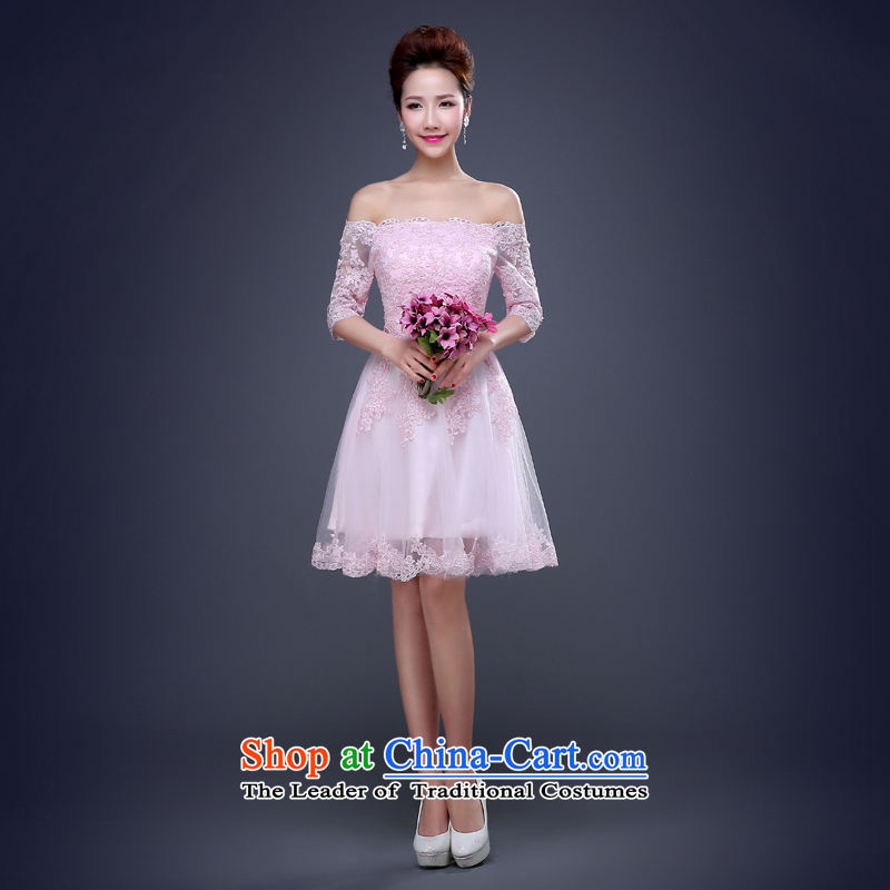 Jie Mia�bride bows to the spring 2015 cheongsam dress short summer stylish, married a small red dress female pink�S