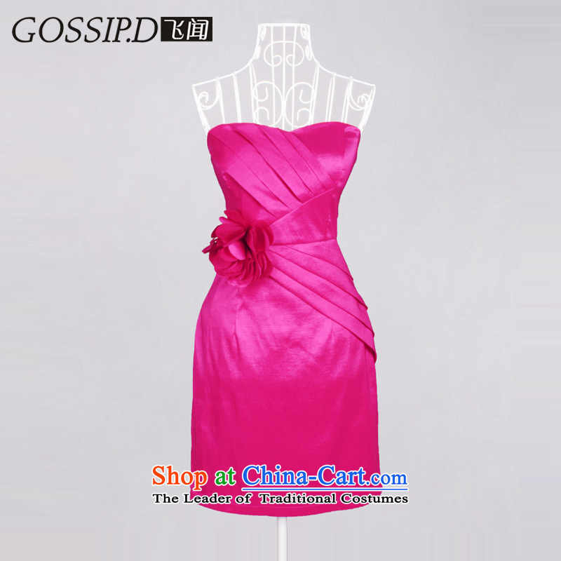 ?Special offers?2015 BRIDESMAID GOSSIP.D dress uniform dress bows short of evening banquet in the elegant dresses Sau San 1137 Red?S