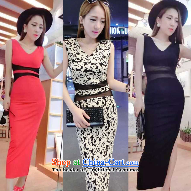 Mei Li Ji sexy Western Wind skirt deep V package and porcelain Sau San dresses skirts are Code 705 female black