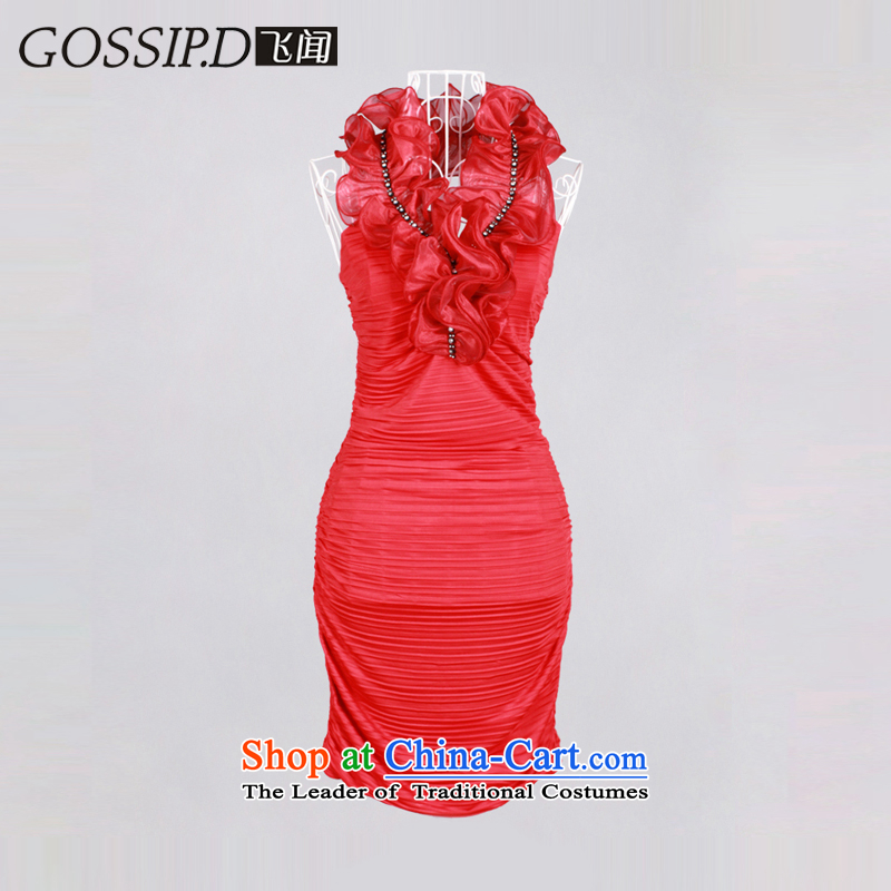 ��2015 Hang History Special GOSSIP.D evening dress short of the big stars like the same dress sexy package and banquet dress 1067 Red�S