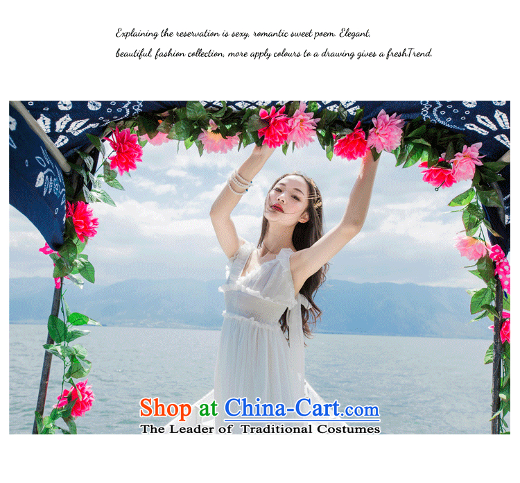 2015 Autumn is women's clothes new chiffon gliding large low his chest resort long skirt dresses dress long skirt D0601 BLUE S picture, prices, brand platters! The elections are supplied in the national character of distribution, so action, buy now enjoy more preferential! As soon as possible.