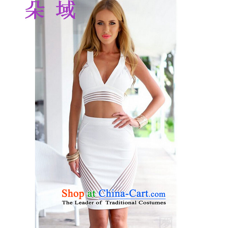 Flower domain a new summer 2015 for women bandages sexy patchwork mini dresses and sexy kit skirt dresses 533 color picture�XXL