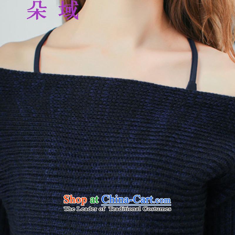 The autumn 2015 domain is a new field shoulder straps sweater bon bon skirt two kits dress kit dresses 3932 dark blue, L, a domain , , , shopping on the Internet