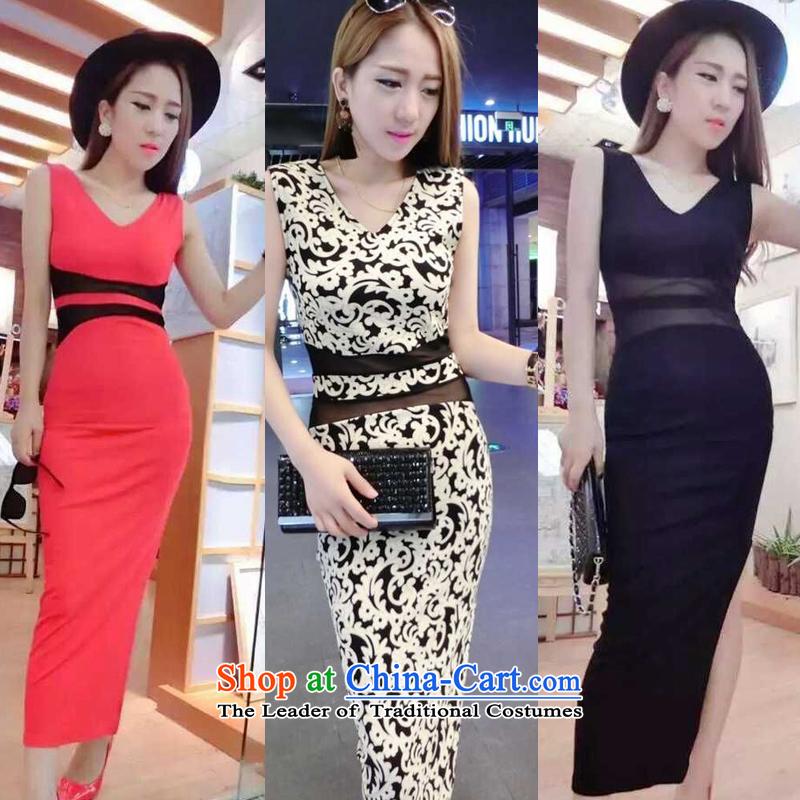 Mei Li Ji sexy Western Wind skirt deep V package and porcelain Sau San dresses skirts are Code 705 female black